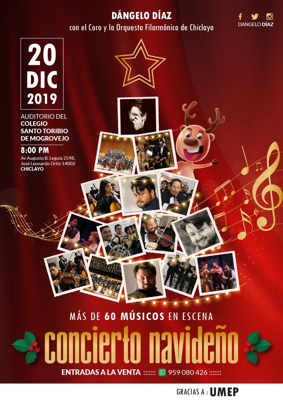 Dangelo Díaz Concierto Navideño Chiclayo Perú   20 de Diciembre 2019   Spot Publicidad